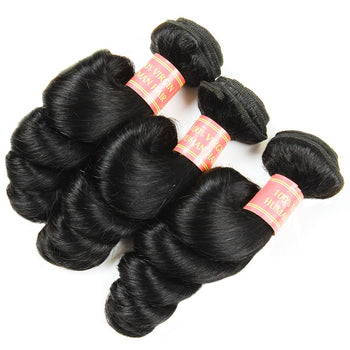 Peruvian Loose Wave Virgin Human Hair 3 Bundles - ExcellentVirginHair