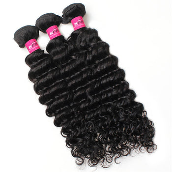 Indian Virgin Hair Deep Wave 3 Pcs Unprocessed Human Hair - ExcellentVirginHair