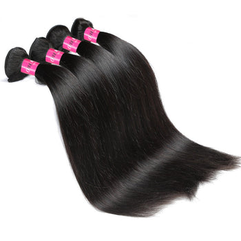 Peruvian Straight Wave 4 Bundles 100% Human Hair Weave Peruvian Virgin Hair - ExcellentVirginHair