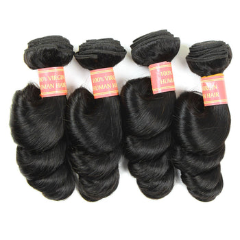 Brazilian Virgin Loose Wave Human Hair Weave 4pcs/lot - ExcellentVirginHair