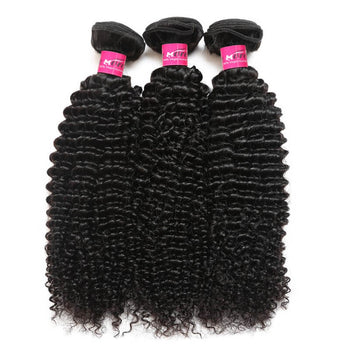 Malaysian Kinky Curly Virgin Hair 3 Bundles  Curly Human Hair - ExcellentVirginHair