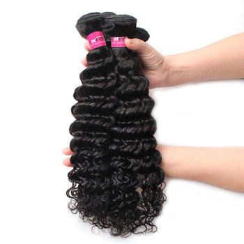 Peruvian Virgin Hair Deep Wave 4 Bundles Unprocessed Virgin Peruvian Deep Wave Hair - ExcellentVirginHair