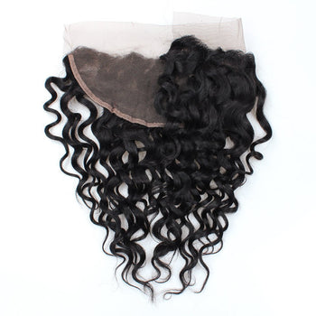 Ama Lace Frontal Indian Virgin Water Wave Hair 13x4 Ear To Ear 1pc/Lot - ExcellentVirginHair
