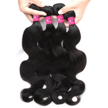Brazilian Body Wave Virgin Hair 4 Bundle Deals Unprocessed Virgin Brazilian Hair - ExcellentVirginHair