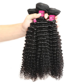 Malaysian Curly Hair Kinky Curly Hair 3 Bundles Unprocessed Human Hair - ExcellentVirginHair