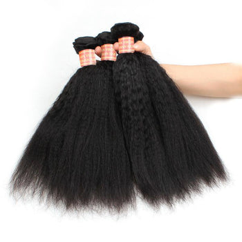 Peruvian Yaki Straight 4 Bundles Virgin Peruvian Coarse Yaki Hair - ExcellentVirginHair