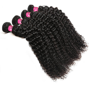 Malaysian Unprocessed Kinky Curly Virgin 4 Bundles Human Hair Weave - ExcellentVirginHair