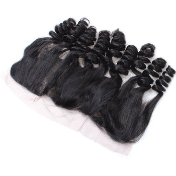 Peruvian Loose Wave Virgin Hair 3 Bundles with 13x4 Lace Frontal Closure - ExcellentVirginHair