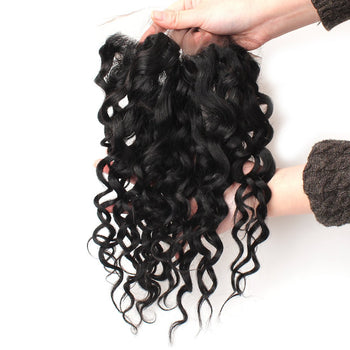 Ama Malaysian Water Wave Lace Frontal 13x4 Ear To Ear Lace Closure 1pc/lot - ExcellentVirginHair