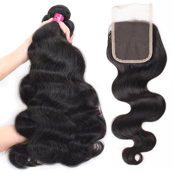Malaysian Body Wave Hair 4 Bundles With Lace Closure - ExcellentVirginHair