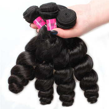 Loose Wave 4 Bundles Indian Human Hair 100% Unprocessed Virgin Hair - ExcellentVirginHair