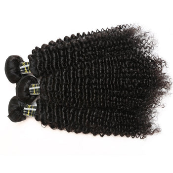 Funmi Peruvian Virgin Kinky Curly 3 Bundles Human Hair Weave - ExcellentVirginHair
