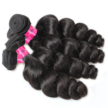 Top Sale 4 Bundles Peruvian Virgin Hair Loose Wave Cheap Peruvian Hair Weave Bundles