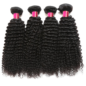 Sweetie Indian Kinky Curly Virgin Human Hair 4 Bundles With Natural Color - ExcellentVirginHair