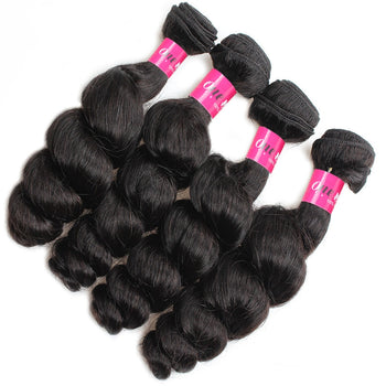 Malaysian Loose Wave Virgin Hair Remy Extensions 4 Bundles Human Hair - ExcellentVirginHair