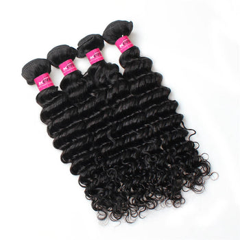 Malaysian Deep Wave Virgin Hair 4 Pcs 100% Unprocessed Human Hair Bundles - ExcellentVirginHair