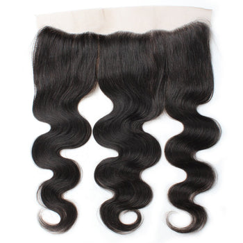 Ama Brazilian Virgin Hair Body Wave Lace Frontal Closure 1pc/lot - ExcellentVirginHair