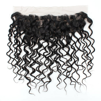 Brazilian Virgin Hair Water Wave Lace Frontal 13x4 Ear To Ear Lace Closure - ExcellentVirginHair