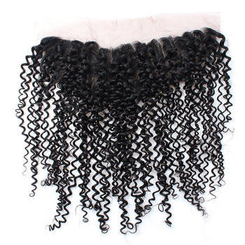 Brazilian Curly Hair 13x4 Ear To Ear Lace Frontal Closure with Baby Hair - Urfirst Hair