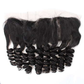 Ama Brazilian Virgin Hair Loose Wave 13x4 Ear To Ear Lace Frontal Closure 1pc/lot - ExcellentVirginHair