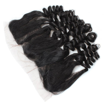 Ama Indian Virgin Hair Loose Wave 13x4 Ear To Ear Lace Frontal Closure 1pc/lot - ExcellentVirginHair