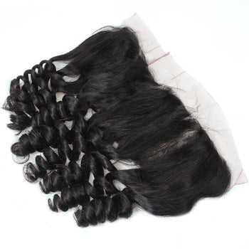 Peruvian Virgin Hair Ama Loose Wave Hair 13x4 Lace Frontal Closure 1pc/lot - ExcellentVirginHair