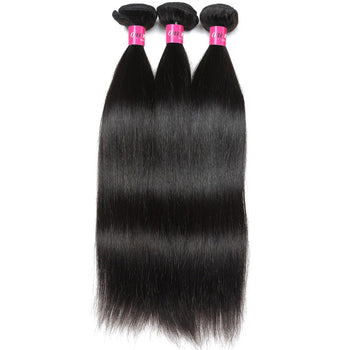 Brazilian Virgin Hair Straight Human Hair Weave 3 Pcs Lot - ExcellentVirginHair