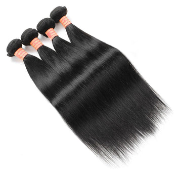 Peruvian Straight Human Hair 4 Bundles Virgin Hair Extensions - ExcellentVirginHair