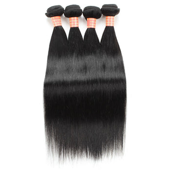 Indian Virgin Straight Human Hair 4 Bundles - ExcellentVirginHair