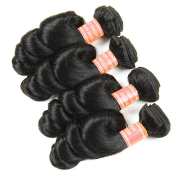Cheap Peruvian Loose Wave Virgin Human Hair 4pcs/lot - ExcellentVirginHair