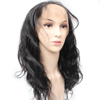 Brazilian Body Wave Human Hair 360 Lace Frontal Closure 1pc/lot - ExcellentVirginHair