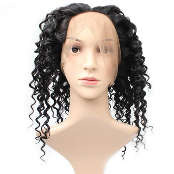 Brazilian Deep Wave Human Hair 360 Lace Frontal Closure 1pc/lot - Urfirst Hair