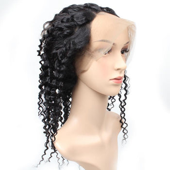 Brazilian Curly Human Hair 360 Lace Frontal Closure 1pc/lot - Urfirst Hair
