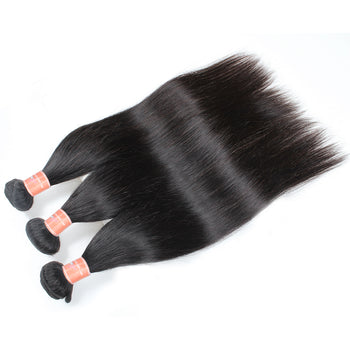 Ama Indian Straight Human Hair 2 Bundles with 360 Lace Frontal Closure - ExcellentVirginHair