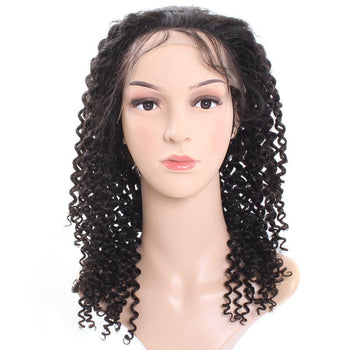 Indian Virgin Curly Human Hair Lace Front Wigs 1pc/lot - ExcellentVirginHair