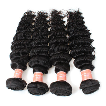 10 Bundles Unprocessed Ama Indian Deep Wave Virgin Hair  - ExcellentVirginHair