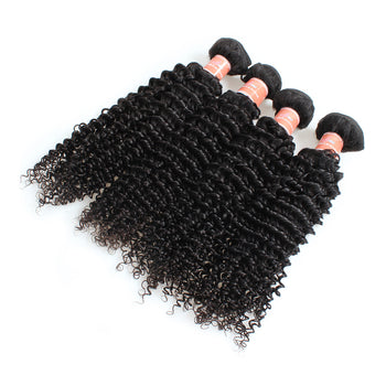Ama Indian Kinky Curly Virgin Human Hair Bundles 4 Bundles - ExcellentVirginHair
