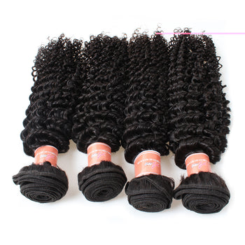 Ama Malaysian Unprocessed Kinky Curly Virgin 4 Bundles - ExcellentVirginHair