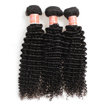 Ama Malaysian Curly Virgin Human Hair Extensions 3 Bundles - ExcellentVirginHair