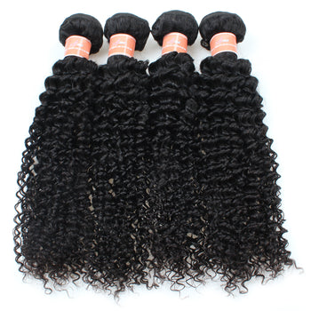 Ama Indian Curly Hair 2 Bundles with 360 Lace Frontal Closure - ExcellentVirginHair