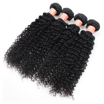 Ama Peruvian Kinky Curly Hair Virgin Peruvian Hair 4 Pcs Lot - ExcellentVirginHair