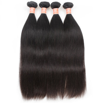 Ama Indian Virgin Straight Hair Extensions 4 Bundles - ExcellentVirginHair