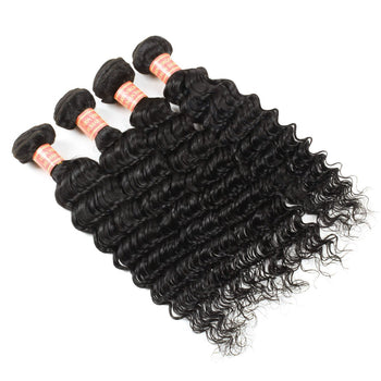 Peruvian Virgin Hair Deep Wave 4 Bundles - ExcellentVirginHair