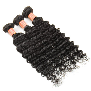 Cheap Peruvian Deep Wave Virgin Human Hair 3 Bundles - ExcellentVirginHair