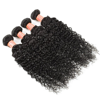 Indian Kinky Curly Virgin Human Hair 4 Bundles - ExcellentVirginHair