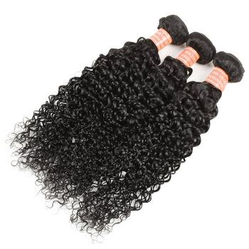 Indian Curly Virgin Hair 3 Bundles with 13x4 Lace Frontal Closure - ExcellentVirginHair