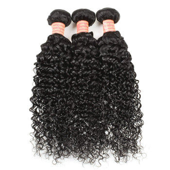Brazilian Kinky Curly Virgin Hair 3 Bundles Brazilian Curly Human Hair - Urfirst Hair