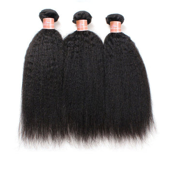 Peruvian Yaki Ama Hair 3 Bundles Virgin Kinky Straight Hair Weave - ExcellentVirginHair