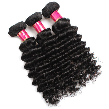 Sweetie Brazilian Virgin Hair Deep Wave 3 Bundles Brazilian Hair Extensions - ExcellentVirginHair
