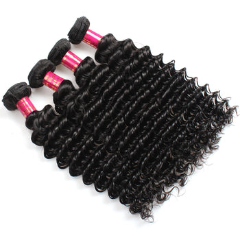 Sweetie Malaysian Deep Wave Virgin Hair 4 Pcs 100% Unprocessed Human Hair Bundles - ExcellentVirginHair